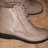 40р-26.5-27 см на широкую кожа ботинки Helvesko Swiss made