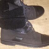 40.5-26.5- Rohde ботинки на шерсти кожа высота от пола 18.5 на максимум ширина подошвы 9.5 Д