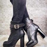 Супер стильные ботинки кожа кожанные
