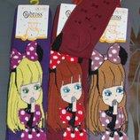 Теплые махровые носки 3-5, 7-9 лет bross девочка с бантом