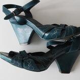 Босоножки на танкетке - каблуке Sacha кожа 39 размер стелька 25.5 см