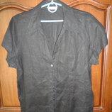 Черная блуза лен