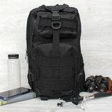 Военный тактический штурмовой рюкзак черного цвета 50410