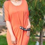 Трикотажное платье 50-54