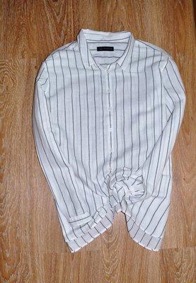 Крутая льняная рубашка в полоску M&S