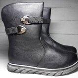 Демисезонные ботинки/полусапожки Том М 3437D темное серебро