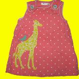 Сарафан с жирафом на 3-6 месяцев,Baby Boden