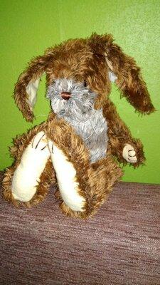 Мягкая игрушка шарнирный зайчик кролик 37 см