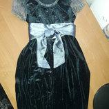 Нарядное платье «RMX» велюр Польша 6-9 лет