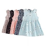 Детское хлопковое летнее платье в цветочек, 2 цвета, 3-6 лет, новые
