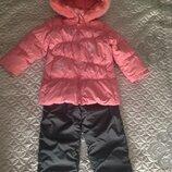 Продам зимнюю куртку, пуховик Bilemi р.98см, полукомбинезон