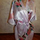 халат атласный в японском стиле рS