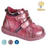 Демисезонные ботинки Том М 5102В сердечки Бордо 22-26