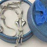 Цепочка ожерелье серебро 925 проба 14,25 грамма длина 45,5 см
