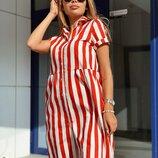 Милое летнее платье в полоску 42 - 44