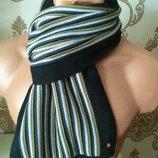 Полосатый тёплый шарф