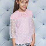 Блуза для девочки розовая 122-152