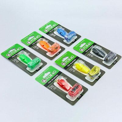 Свисток судейский пластиковый Fox40 Micro на шнуре 6 цветов 110dB