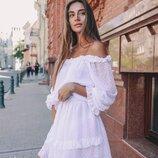 Милое, нежное платье 42 - 46 три расцветки