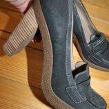 39 и 40 разм. Туфли Ecco. Кожа. Оригинал 39 разм. Длина по вн. стельке 25,5 см., ширина подошвы -