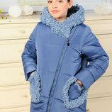 Куртка зимняя для девочки Мирея голубой