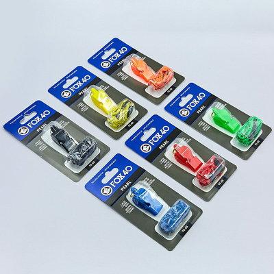 Свисток судейский пластиковый Fox40 Pearl на шнуре 6 цветов 90dB