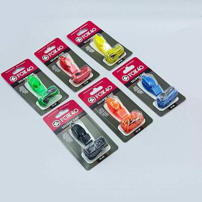 Свисток судейский пластиковый Fox40 Eclipse на шнуре 6 цветов 115dB