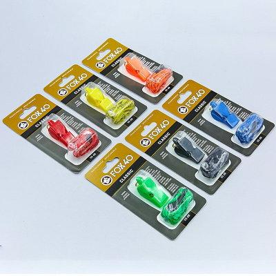 Свисток судейский пластиковый Fox40 Classic на шнуре 6 цветов 115dB