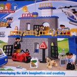 Конструктор для малышей JDLT 5136 аналог Lego Duplo Полицейский участок, крупные детали 92 детали