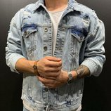 Стильная мужская джинсовка 2 цвета S,M,L,XL.