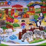 Конструктор для малышей JDLT 5095 Большой Зоопарк 120 деталей