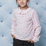 Блуза для девочки принт розовая 122-152