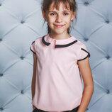 Блуза школьная короткий рукав персик 122-152