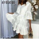Платье хлопковое белое р.м-л