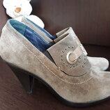 Кожаные Замшевые Туфли Ботинки