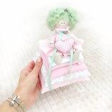 Принцесса на горошине кукла тильда оригинальный подарок сувенир оберег