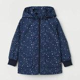 Водоотталкивающая куртка на подкладке h&m рост от 104 до 140 см