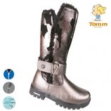Зимние сапоги низкие Том.м 5125С темное серебро 33-38