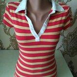 Fishbone полосатая футболка поло