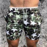 Мужские шорты Valentino Swimming Trunk CamoStars Green звезды