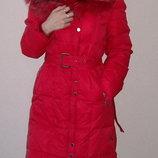 Пальто зимнее женское пух