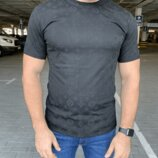 Мужская футболка Louis Vuitton Classic T-Shirt Monogram Black черная