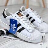 Женские белые кроссовки, кеды Adidas Superstar, кожаные