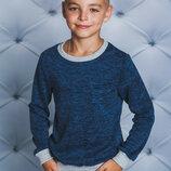 Джемпер для мальчика джинс 122-152