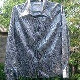 Блузка-Рубашка атласная
