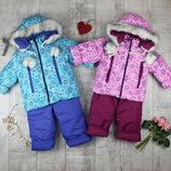 Детские зимние комбинезоны для девочки от 2 до 4 лет