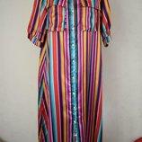 Красивое платье-рубашка в полоску misslook 16p