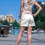 Короткие белые летние шорты 42-60р