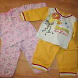 байковые пижамы в садик 86-104р