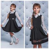 Модный школьный сарафан два вида